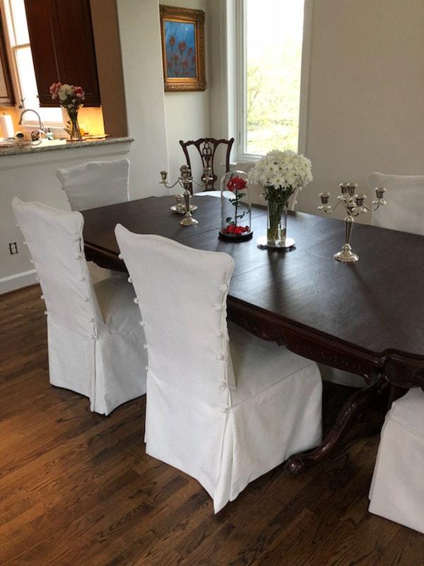 Dining Chair Slipcovers Houston Slipcovers By Elegant Upholstery